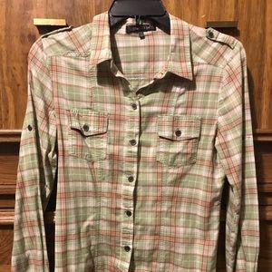 Junior Girls size L button down shirt
